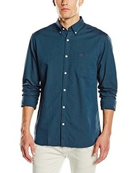 Camisa de manga larga en verde azulado de Selected Homme