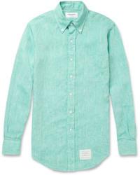 Camisa de manga larga en verde menta