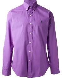 Camisa de manga larga en violeta de Polo Ralph Lauren