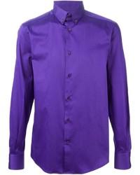 Camisa de manga larga en violeta de Versace