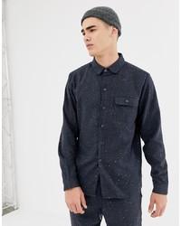 Camisa de manga larga estampada azul marino de Another Influence
