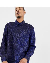 Camisa de manga larga estampada azul marino de Milk It