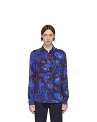 Camisa de manga larga estampada azul marino de Paul Smith