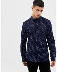 Camisa de manga larga estampada azul marino de Tom Tailor