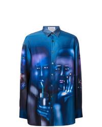 Camisa de manga larga estampada azul de Études