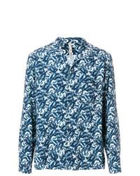 Camisa de manga larga estampada azul de Dnl