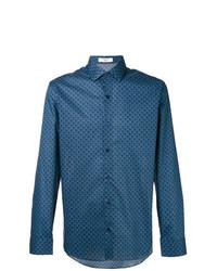 Camisa de manga larga estampada azul de Fashion Clinic Timeless