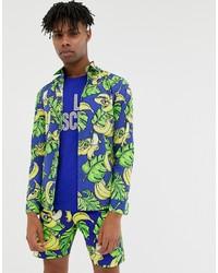 Camisa de manga larga estampada azul de Love Moschino