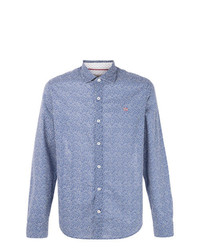 Camisa de manga larga estampada azul de Napapijri