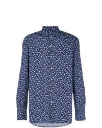 Camisa de manga larga estampada azul de Orian
