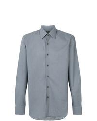 Camisa de manga larga estampada azul de Prada