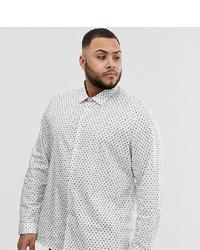 Camisa de manga larga estampada blanca de ASOS DESIGN