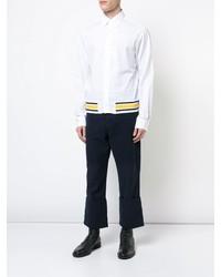 Camisa de manga larga estampada blanca de Loewe