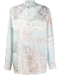 Camisa de manga larga estampada celeste de Études