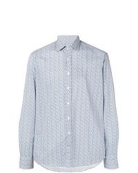 Camisa de manga larga estampada celeste de Etro