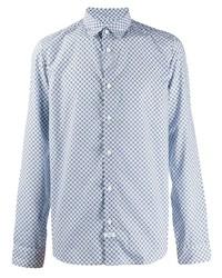 Camisa de manga larga estampada celeste de Kenzo