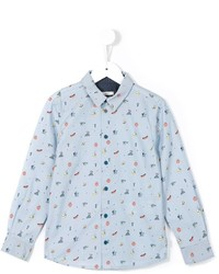 Camisa de Manga Larga Estampada Celeste de Paul Smith