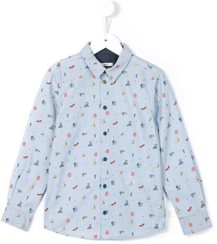 Camisa de manga larga estampada celeste de Paul Smith