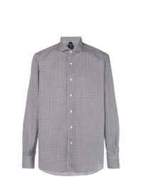 Camisa de manga larga estampada en blanco y azul marino de Orian