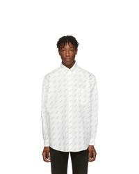 Camisa de manga larga estampada en blanco y negro de Balenciaga