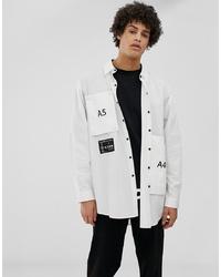 Camisa de manga larga estampada en blanco y negro de Lyph