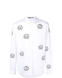Camisa de manga larga estampada en blanco y negro de McQ Alexander McQueen