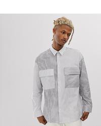 Camisa de manga larga estampada en blanco y negro de Noak