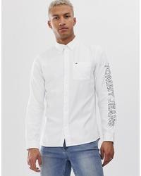 Camisa de manga larga estampada en blanco y negro de Tommy Jeans