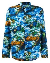 Camisa de manga larga estampada en multicolor de Kenzo