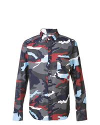 Camisa de manga larga estampada en multicolor de Moncler