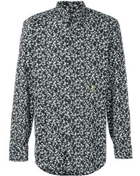 Camisa de Manga Larga Estampada en Negro y Blanco de Marc Jacobs