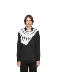 Camisa de manga larga estampada en negro y blanco de Neil Barrett
