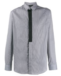 Camisa de manga larga estampada gris de Emporio Armani