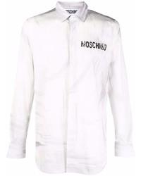 Camisa de manga larga estampada gris de Moschino