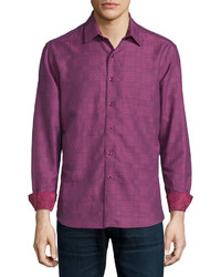 Camisa de manga larga estampada morado