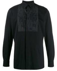 Camisa de manga larga estampada negra de Fendi