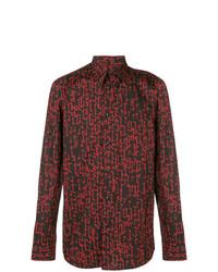 Camisa de manga larga estampada negra de Givenchy
