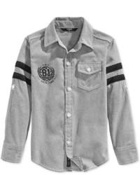 Camisa de manga larga gris