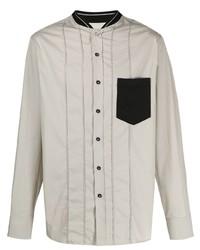 Camisa de manga larga gris de Lanvin