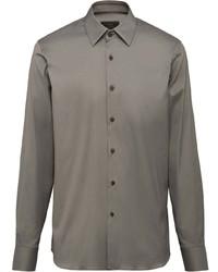 Camisa de manga larga gris de Prada