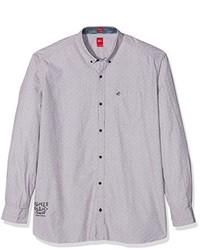 Camisa de manga larga gris de S.Oliver Big Size