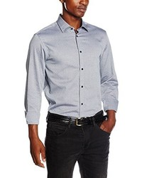 Camisa de manga larga gris de Selected Homme
