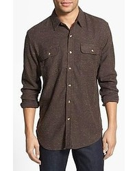 Camisa de manga larga marrón