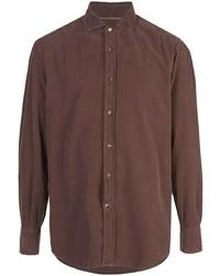 Camisa de manga larga marrón de Brunello Cucinelli