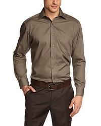 Camisa de manga larga marrón de Casamoda