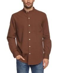 Camisa de manga larga marrón de Eddie Bauer