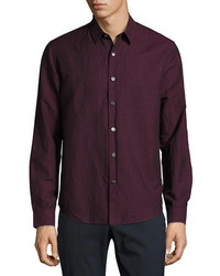 Camisa de manga larga morado oscuro