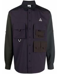 Camisa de manga larga morado oscuro de Nike