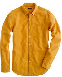 Camisa de manga larga mostaza