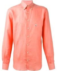 Camisa de manga larga naranja de Etro